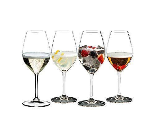 """<p><strong>Riedel</strong></p><p>amazon.com</p><p><strong>$29.99</strong></p><p><a href=""""https://www.amazon.com/dp/B0842TVFCQ?tag=syn-yahoo-20&ascsubtag=%5Bartid%7C2141.g.33577070%5Bsrc%7Cyahoo-us"""" rel=""""nofollow noopener"""" target=""""_blank"""" data-ylk=""""slk:Shop Now"""" class=""""link rapid-noclick-resp"""">Shop Now</a></p><p>For your next champagne brunch, the Riedel Mixing Champagne Glass comes highly recommended by Julia Prestia, a wine producer and owner of Lambrusco producer <a href=""""https://venturinibaldini.it/"""" rel=""""nofollow noopener"""" target=""""_blank"""" data-ylk=""""slk:Venturini Baldini"""" class=""""link rapid-noclick-resp"""">Venturini Baldini</a>. The mixing champagne set has what Prestia describes as an """"egg-shaped glass,"""" and is <strong>particularly well-suited for sparkling wines like a lambrusco</strong> (a sparkling red wine that will certainly change your life). These glasses are also relatively inexpensive, and like the rest of Riedel's lineup, beautifully made without being overly delicate.</p>"""