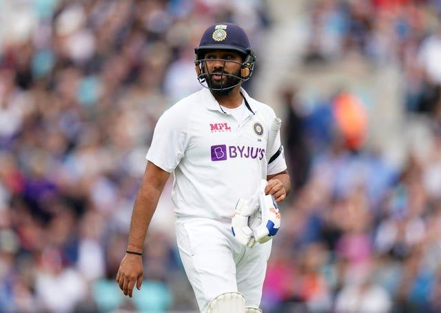 Rohit Sharma was Chris Woakes' first victim