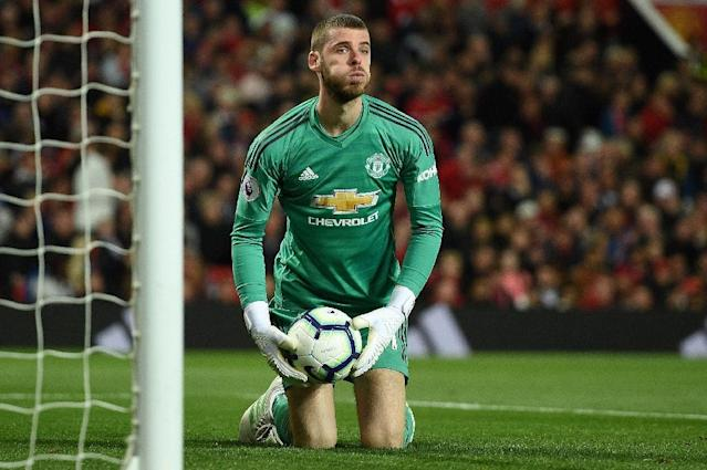 Manchester United goalkeeper David de Gea is in the spotlight after a recent loss of form (AFP Photo/Oli SCARFF )