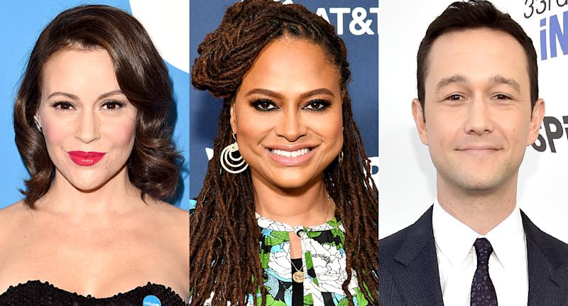 Alyssa Milano, Ava DuVernay, and Joseph Gordon-Levitt are showing their best selves on National Selfie Day. (Photo: Getty Images)