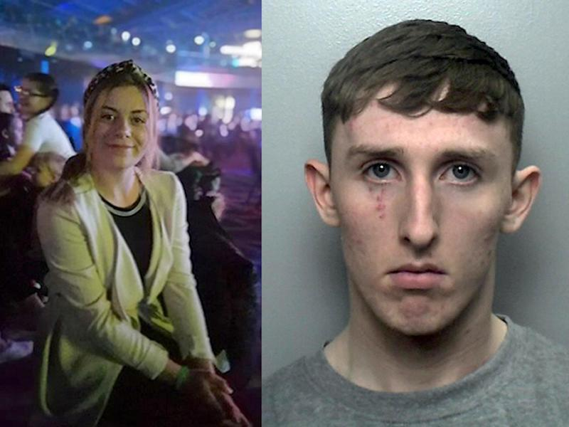 Megan Newton (left) and Joseph Trevor, who has admitted rape and murder: Staffordshire Police/PA