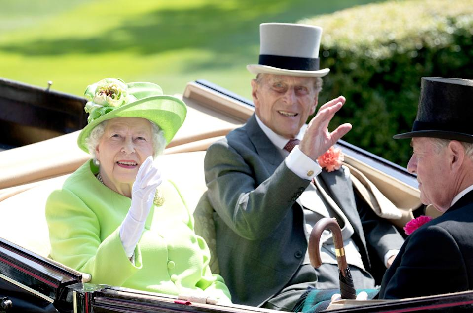 The Queen and Philip at Ascot last year (Getty)