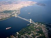 <p><b>8. Verrazano-Narrows Bridge</b></p> <br><p>The bridge furnishes a critical link in the local and regional highway system. Since 1976, it has been the starting point of the New York City Marathon.[4] The bridge marks the gateway to New York Harbor; all cruise ships and most container ships arriving at the Port of New York and New Jersey must pass underneath the bridge and thus must be built to accommodate the clearance under the bridge.</p> <br><p>By Ibagli (Own work) [Public domain], via Wikimedia Commons .</p>