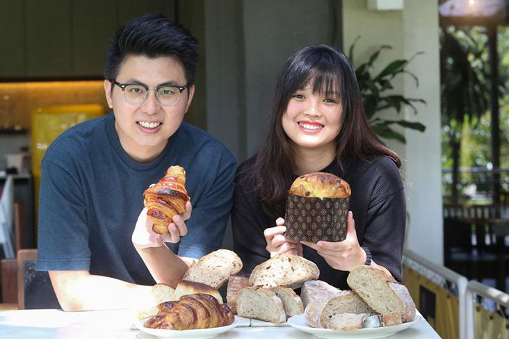 Twenty-Two Bakery is all about sourdough from loaves, croissants, rolls and panettone with Ang Bo Ling (left) and his partner, Yap Yee Teng (right) – Pictures by Choo Choy May