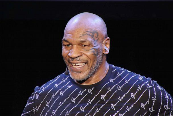 PHOTO: Mike Tyson performs his one man show 'Undisputed Truth' in the Music Box at the Borgata on March 6, 2020, in Atlantic City, N.J. (Donald Kravitz/Getty Images, FILE)