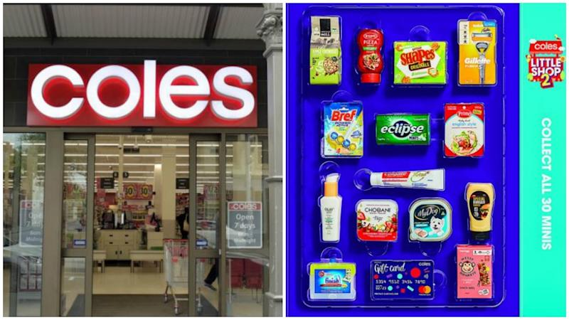 Coles customers have come to the supermarket's defence after a shopper attempted to get more Little Shop collectables than she had earned. Photo: Getty/Coles
