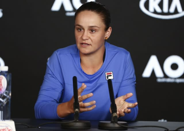 Ashleigh Barty is the current world number one and reigning French Open champion (Dita Alangkara/AP)