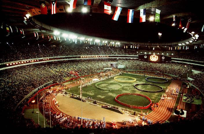 The grounds for the closing ceremony of the 1976 Olympic Games in Montreal. They were without over 20 countries that were boycotting the international event for reasons outside of just sports. (Credit: CP Images)