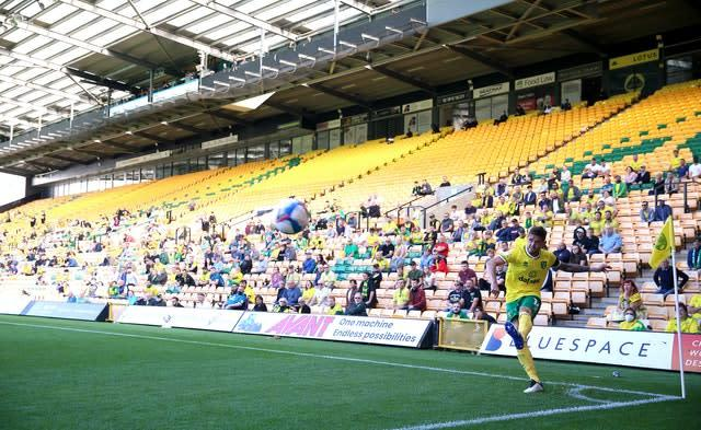 Norwich was one of the Sky Bet Championship clubs to take part in a pilot of the safe return of spectators to grounds