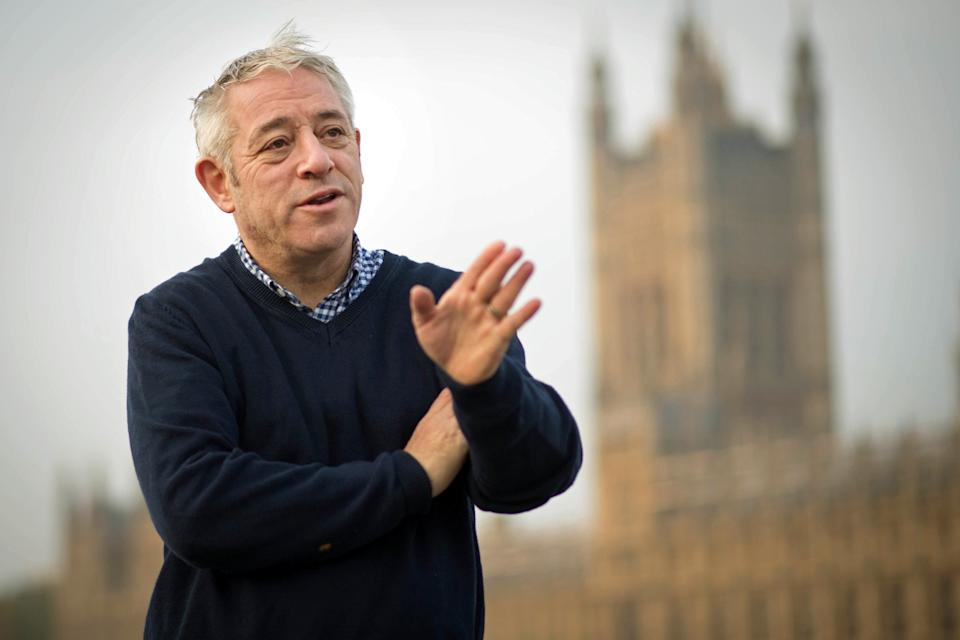 Speaker of the House of Commons, John Bercow walks over Westminster Bridge from a session in the gym this morning on his last day as Speaker of the House of Commons, after 10 years in the chair.