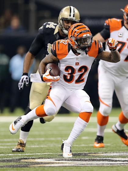 Jeremy Hill, running all over New Orleans (Chuck Cook-USA TODAY Sports)