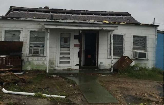 Hurricane Harvey destroyed the Henderson's home in Refugio, Texas. (Courtesy of Nicole Henderson)