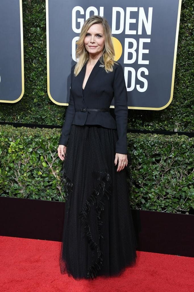 <p>Michelle Pfeiffer, nominated as Best Supporting TV Actres for <em>The Wizard of Lies,</em> attends the 75th Annual Golden Globe Awards at the Beverly Hilton Hotel in Beverly Hills, Calif., on Jan. 7, 2018. (Photo: Steve Granitz/WireImage) </p>