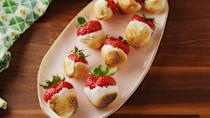 "<p>A fun twist on chocolate covered strawberries.</p><p>Get the recipe from <a href=""https://www.delish.com/cooking/recipe-ideas/recipes/a53040/campfire-strawberries-recipe/"" rel=""nofollow noopener"" target=""_blank"" data-ylk=""slk:Delish"" class=""link rapid-noclick-resp"">Delish</a>.</p>"