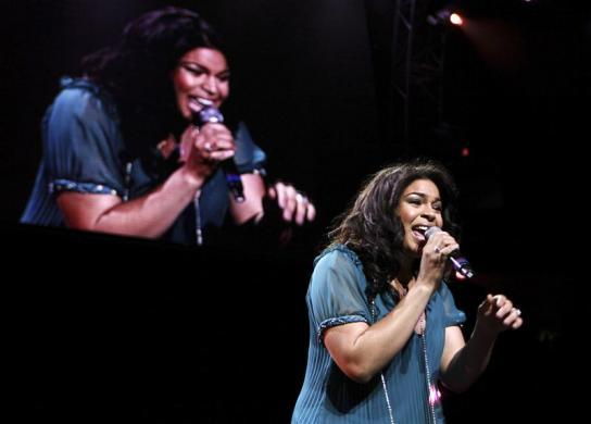 "Jordin Sparks performs during the Z100 ""Jingle Ball"" concert at Madison Square Garden in New York December 14, 2007."