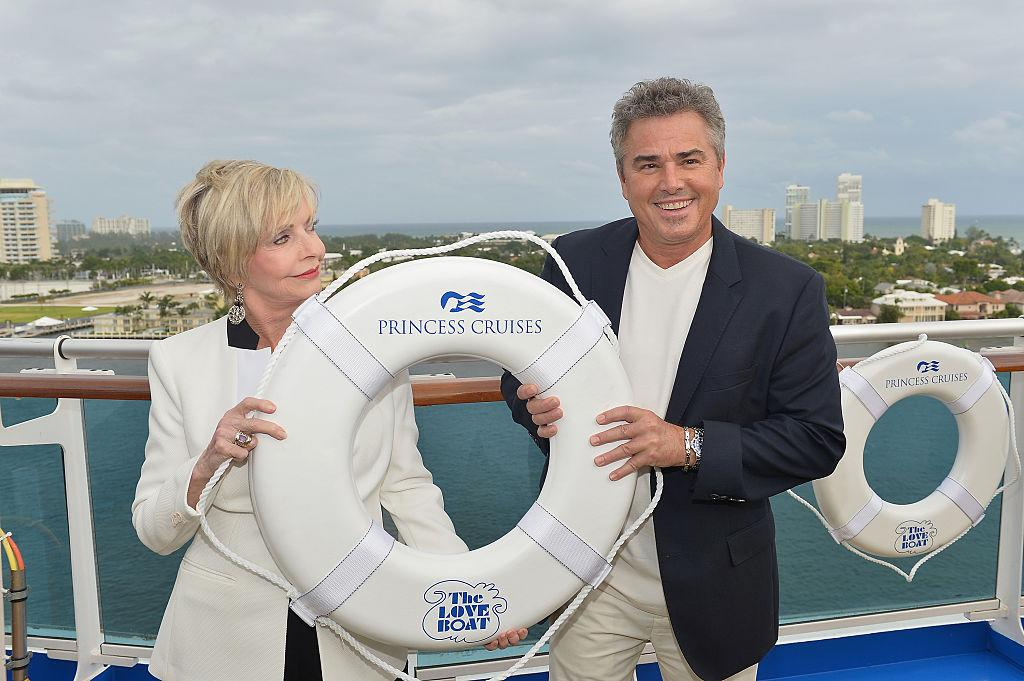 <p>Florence and Christopher Knight attend Love Boat Cast Christening Of Regal Princess Cruise Ship at Port Everglades on November 5, 2014 in Fort Lauderdale, Florida. (Photo: Gustavo Caballero/Getty Images) </p>