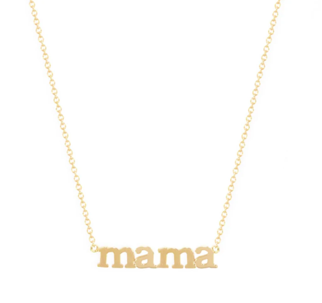 Mama 18-karat gold necklace