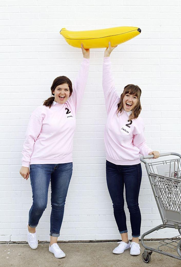 """<p>Do you and your daughter enjoy shopping, old game shows, food, or all of the above? Then you'll love sparking some nostalgia this Halloween with a mother-daughter <em>Supermarket Sweep</em> costume.</p><p><strong>See more at <a href=""""https://themerrythought.com/diy/diy-supermarket-sweep-costume/"""" rel=""""nofollow noopener"""" target=""""_blank"""" data-ylk=""""slk:The Merrythought"""" class=""""link rapid-noclick-resp"""">The Merrythought</a>. </strong></p><p><a class=""""link rapid-noclick-resp"""" href=""""https://www.amazon.com/Toysmith-Kids-Miniature-Shopping-Cart/dp/B004I6854U/ref=as_li_ss_tl?tag=syn-yahoo-20&ascsubtag=%5Bartid%7C2164.g.37079496%5Bsrc%7Cyahoo-us"""" rel=""""nofollow noopener"""" target=""""_blank"""" data-ylk=""""slk:SHOP MINI SHOPPING CARTS"""">SHOP MINI SHOPPING CARTS</a></p>"""