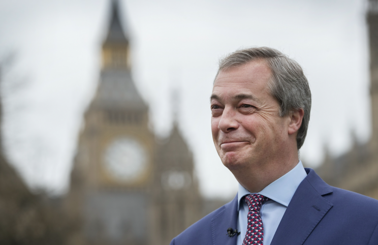 Nigel Farage said a Le Pen win would be best for Britain (Rex)