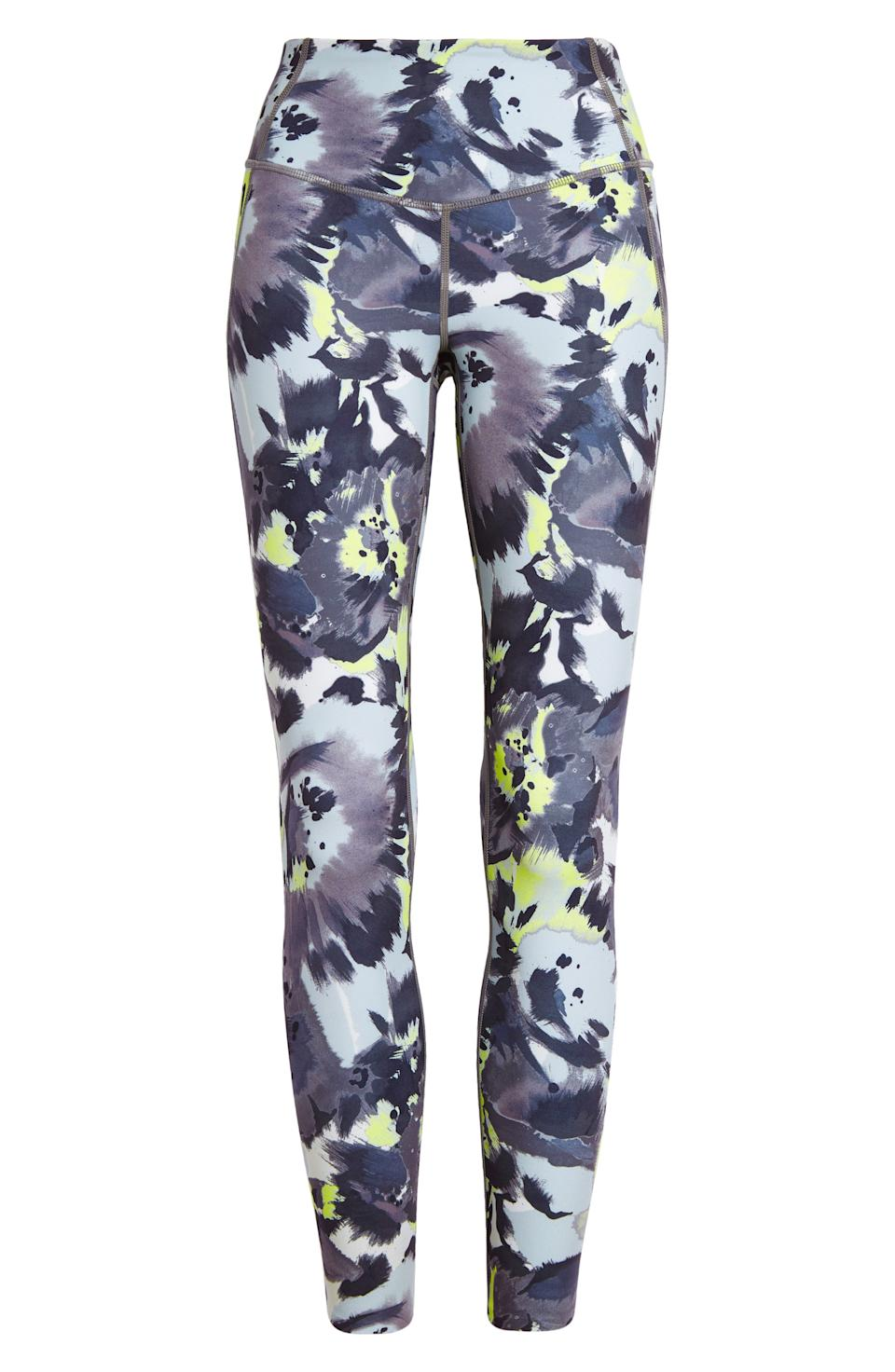 """<h3>Zella Studio Lite High Waist Legging<br></h3><br>We came for the splashy artistic print and stayed for the """"incredibly lightweight"""" feel of these pocket leggings from Nordstrom's fanatically beloved in-house activewear brand. Thanks to the proprietary """"Zeltek"""" fabric, they're also cooling and moisture-wicking.<br><br><strong>Zella</strong> Studio Lite High Waist Pocket 7/8 Leggings, $, available at <a href=""""https://go.skimresources.com/?id=30283X879131&url=https%3A%2F%2Fwww.nordstrom.com%2Fs%2Fzella-studio-lite-high-waist-pocket-7-8-leggings%2F5480229"""" rel=""""nofollow noopener"""" target=""""_blank"""" data-ylk=""""slk:Nordstrom"""" class=""""link rapid-noclick-resp"""">Nordstrom</a>"""