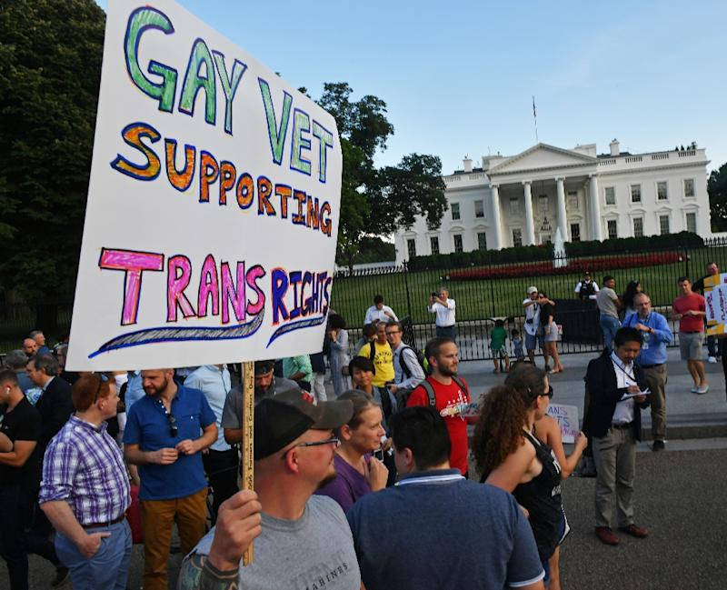 'US transgender military ban to begin in 6 months'