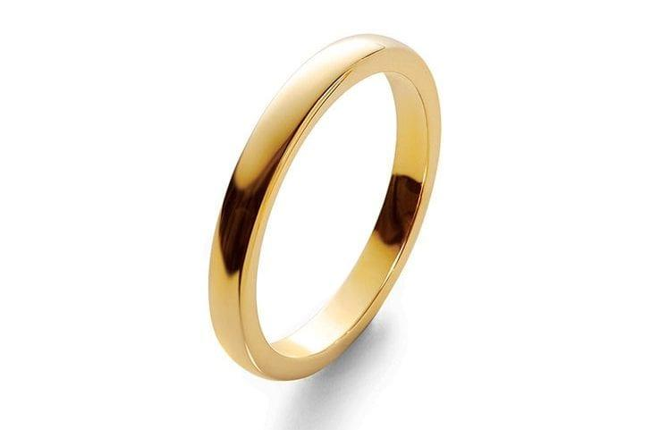 Cassandra Goad recommends a plain gold band such as this made-to-order design, from £630