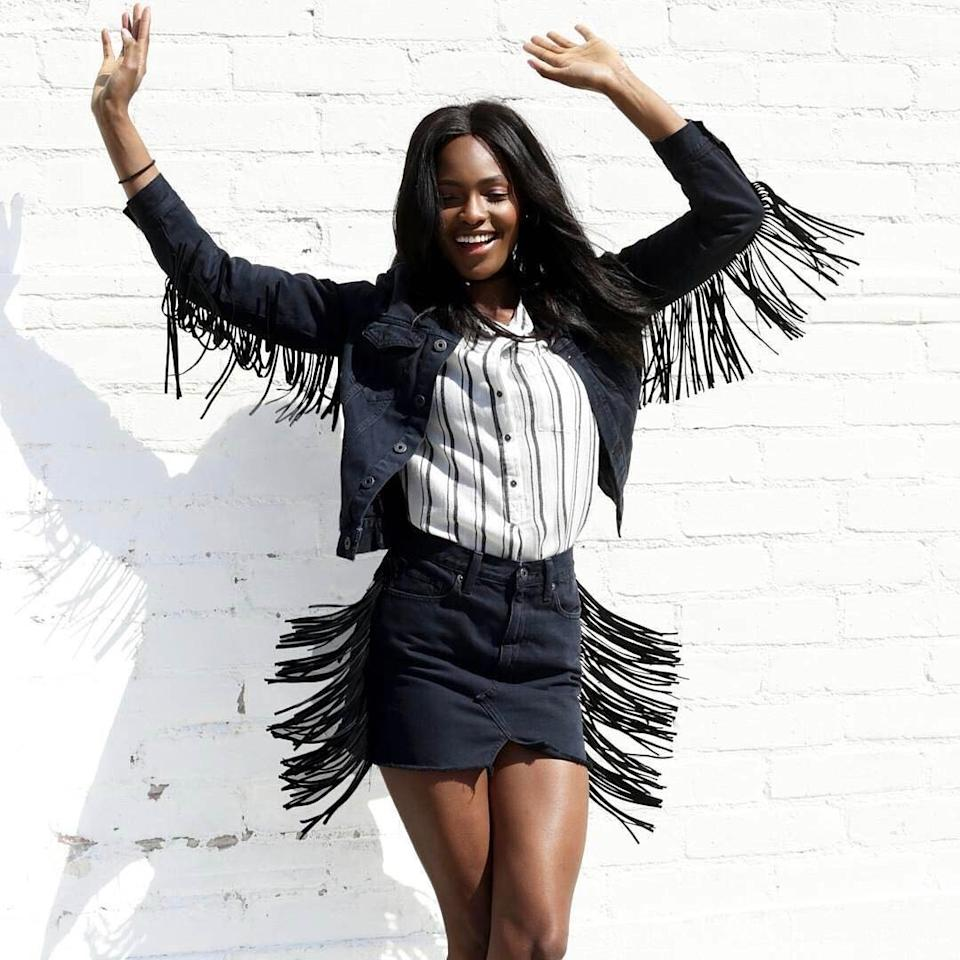 <p>Fringe is a fun way to give your favorite denim movement.</p>