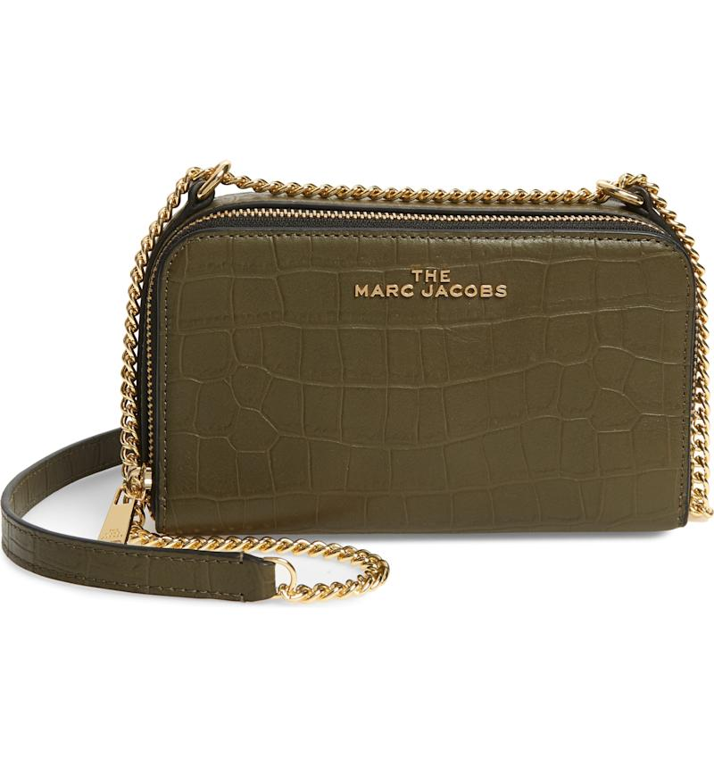 The Marc Jacobs Croc Embossed Leather Crossbody Bag. Image via Nordstrom.
