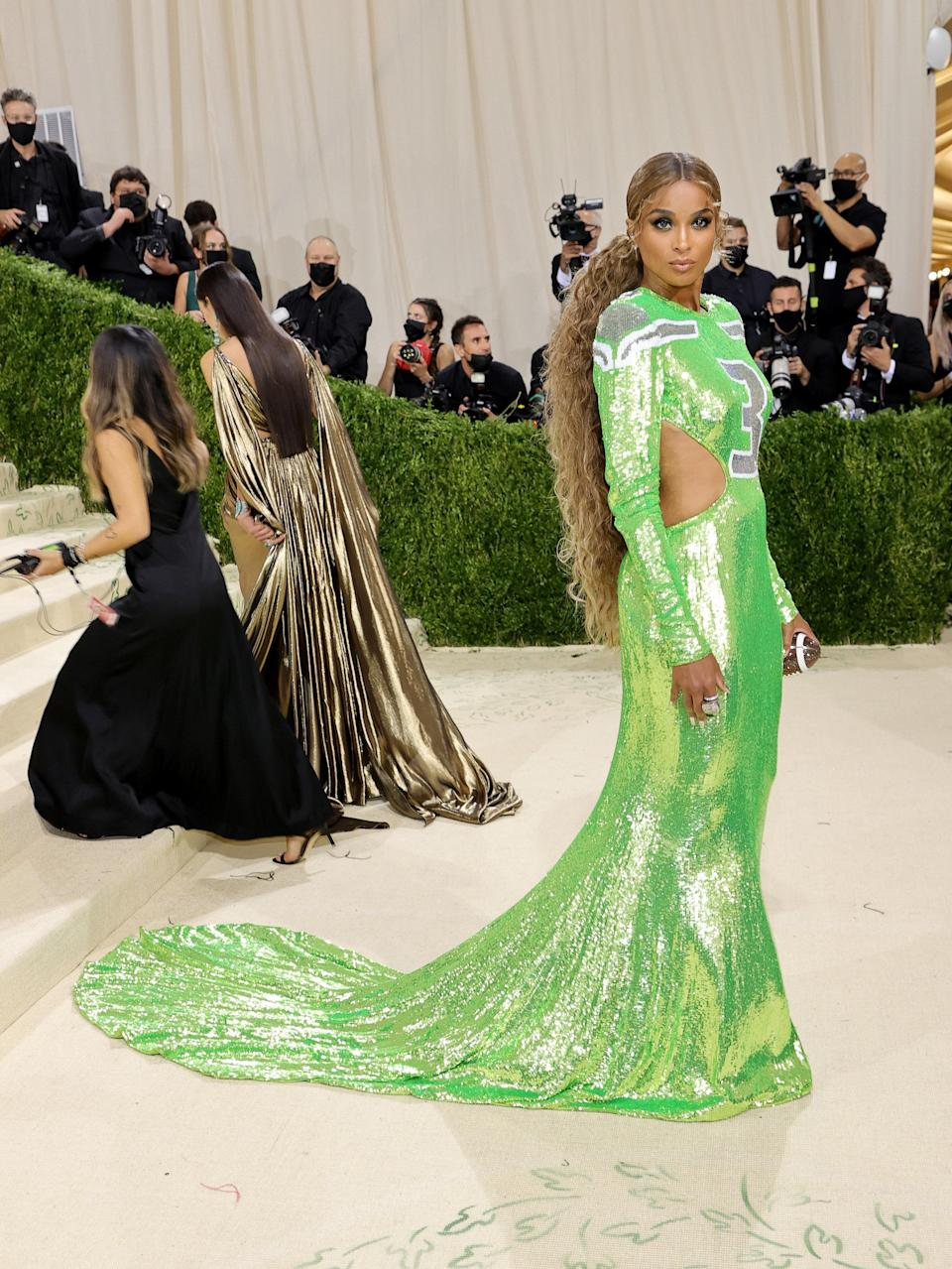 """<h1 class=""""title"""">Ciara, The 2021 Met Gala Celebrating In America: A Lexicon Of Fashion - Arrivals</h1><cite class=""""credit"""">Getty</cite>"""