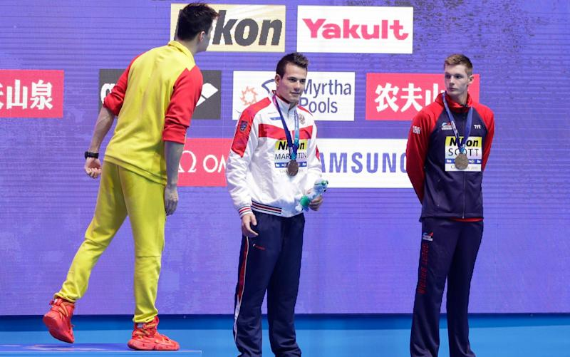 Sun Yang appeared to tell Duncan Scott