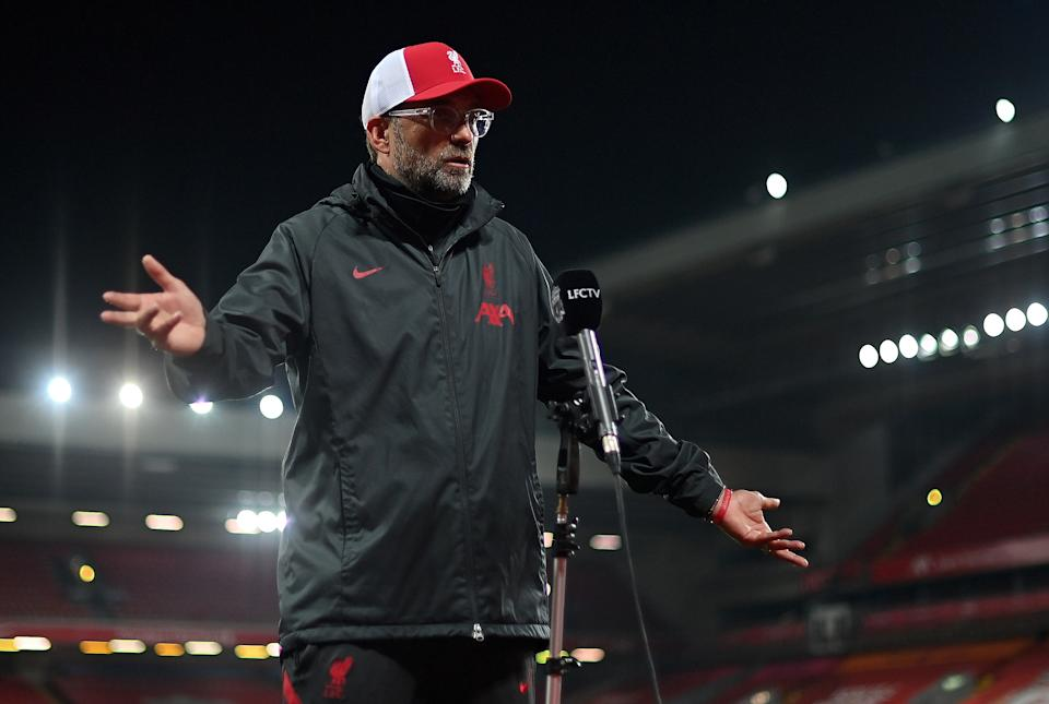 Jurgen Klopp took exception to some post-match criticism from Roy KeanePOOL/AFP via Getty Images