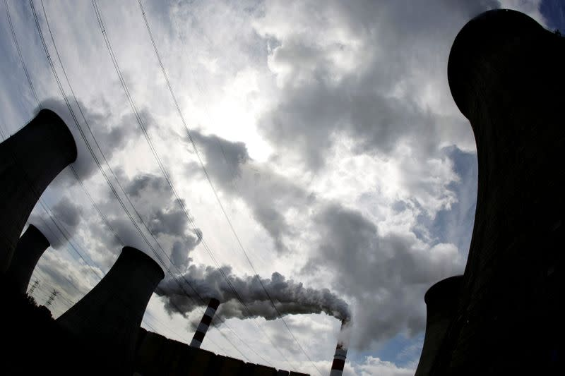 FILE PHOTO: Smoke billows from the chimneys of Europe's largest biggest coal-fired power plant