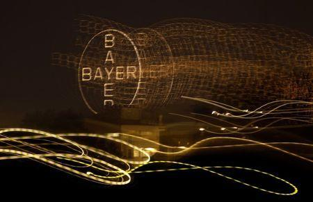 FILE PHOTO - The logo of Germany's largest drugmaker Bayer is pictured in Leverkusen April 26, 2014. REUTERS/Ina Fassbender/File Photo