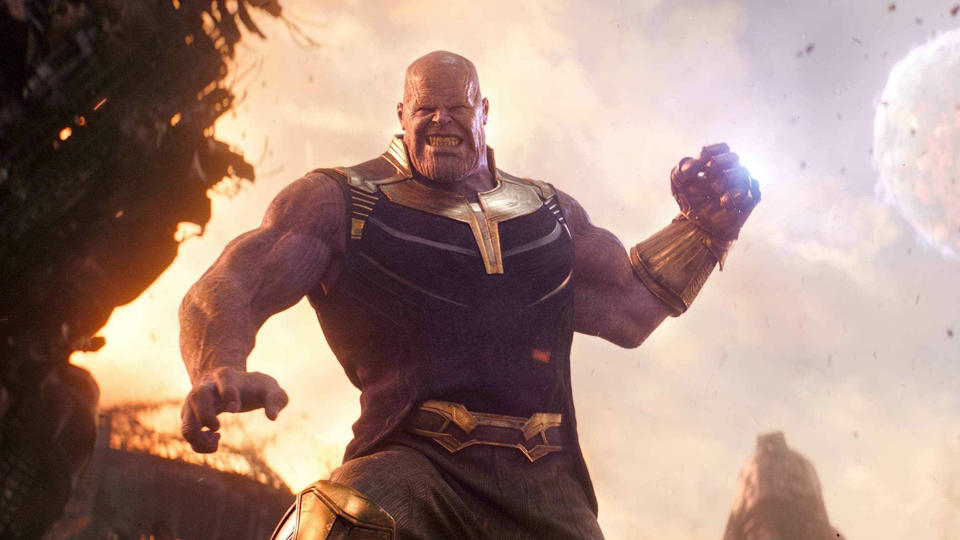 Thanos wields the Infinity Gauntlet in 'Avengers: Infinity War'. (Credit: Marvel/Disney)