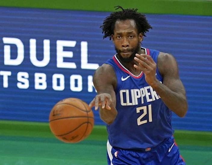 Los Angeles Clippers guard Patrick Beverley during an NBA basketball game against the Boston Celtics.