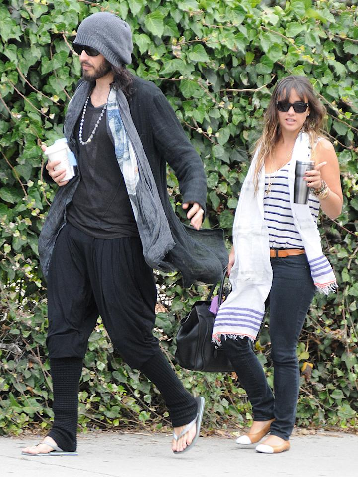 "<p class=""MsoNormal"">Fresh off his divorce from Katy Perry, Russell Brand grabbed a post-meeting coffee in West Hollywood, California, with his new leading lady, former talent agent Isabella Brewster. Brewster didn't just once work with celebs, she's also related to one. Her sister is actress Jordana Brewster. (7/17/2012)<br> <br> </p>"