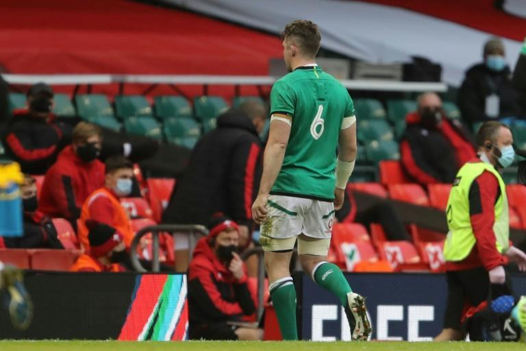 Ireland's Peter O'Mahony is sent off in the Six Nations match against Wales in Cardiff