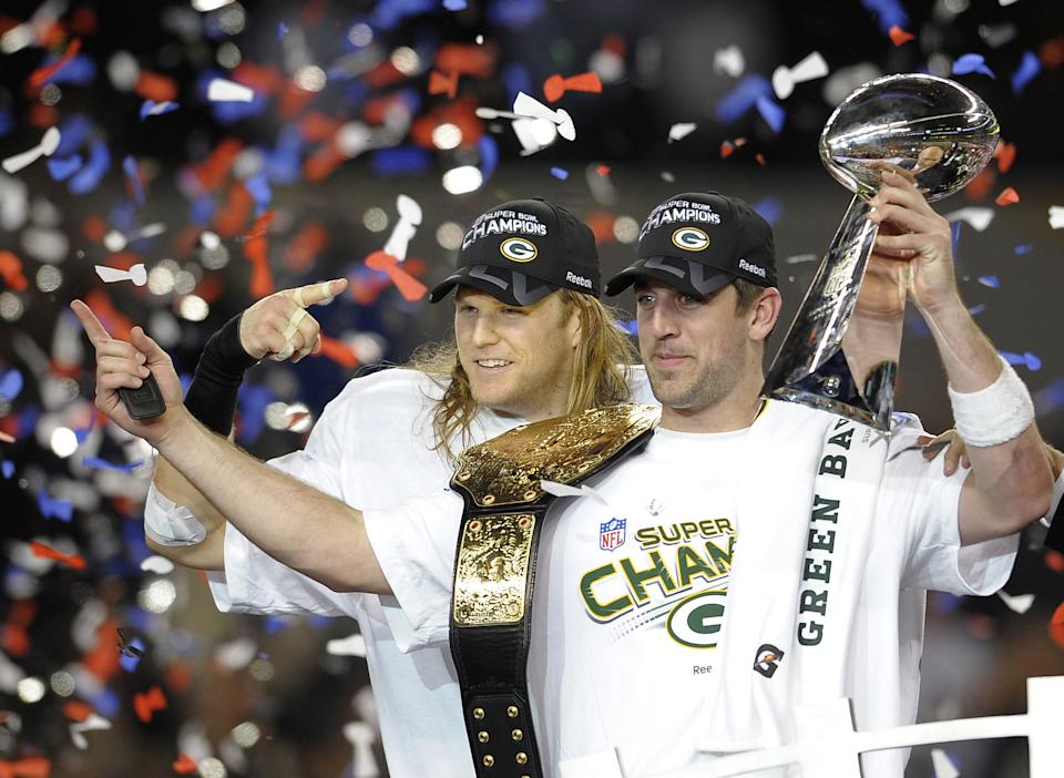 Aaron Rodgers and Clay Matthews helped lead the Packers to a Super Bowl win. (Photo credit should read TIMOTHY A. CLARY/AFP via Getty Images)