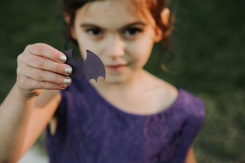 Paper bats were thrown instead of petals.  (The Ramsdens)