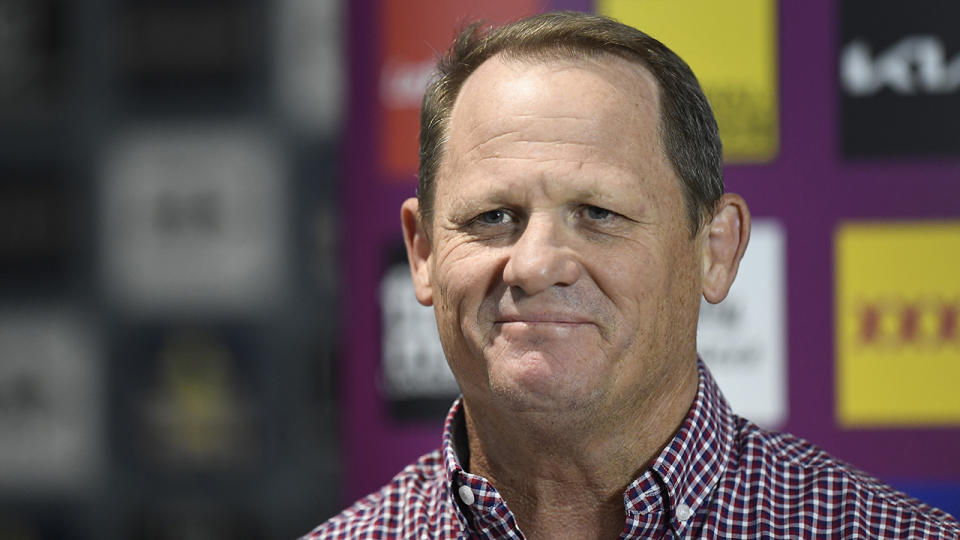 Despite a difficult first season in charge of the Broncos, head coach Kevin Walters is optimistic about what is to come for the club. (Photo by Ian Hitchcock/Getty Images)