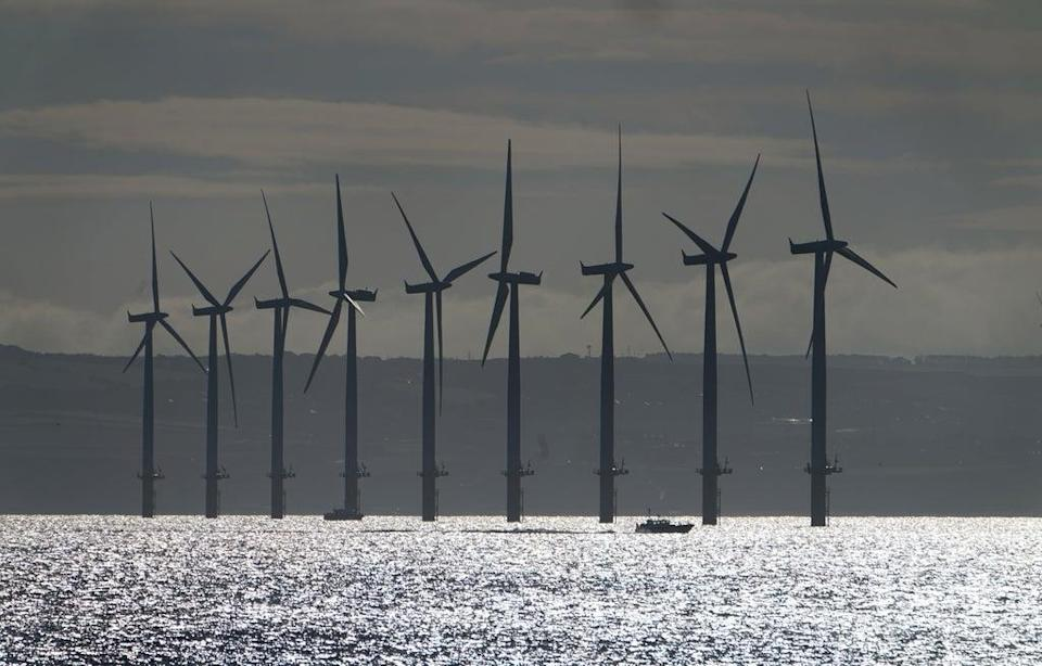 Teesside Wind Farm near the mouth of the River Tees (Owen Humphreys/PA) (PA Archive)