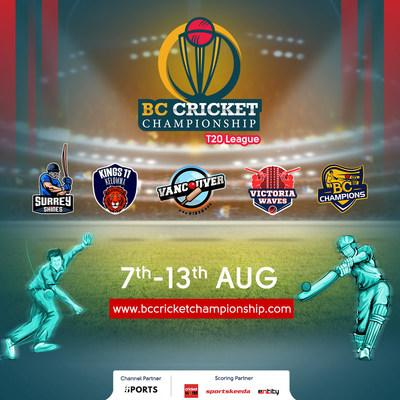 BC Cricket Championship is bringing Cricket back to your screens! Mark your calendars! Catch all the action live on One Sports, India from 7th Aug - 13th Aug. You don't want to miss this one!