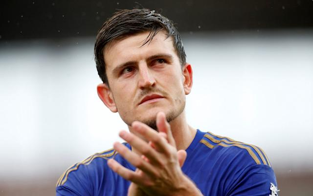Maguire was left out of Leicester City's squad for Friday's friendly against Atalanta and - Action Images via Reuters