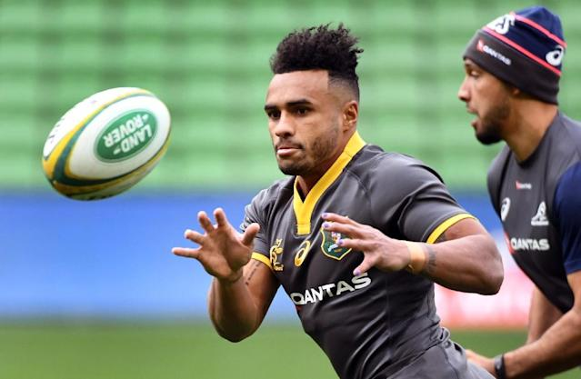 Will Genia broke his right arm during Ireland's series-levelling win over the Wallabies on Saturday (AFP Photo/WILLIAM WEST)