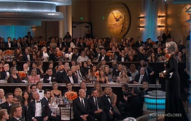 Meryl took to the stage to a standing ovation. Photo: NBC