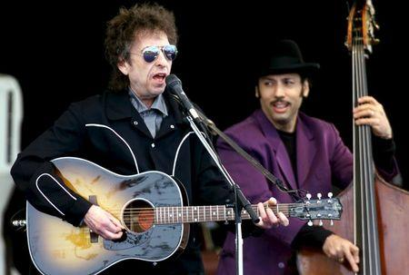 File photo of Bob Dylan performing in Ischgl