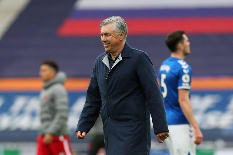 Carlo Ancelotti's Everton are top of the Premier League table