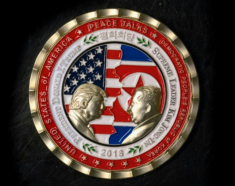 The White House Communications Agency produced a coin to mark the hoped for US-North Korea summit