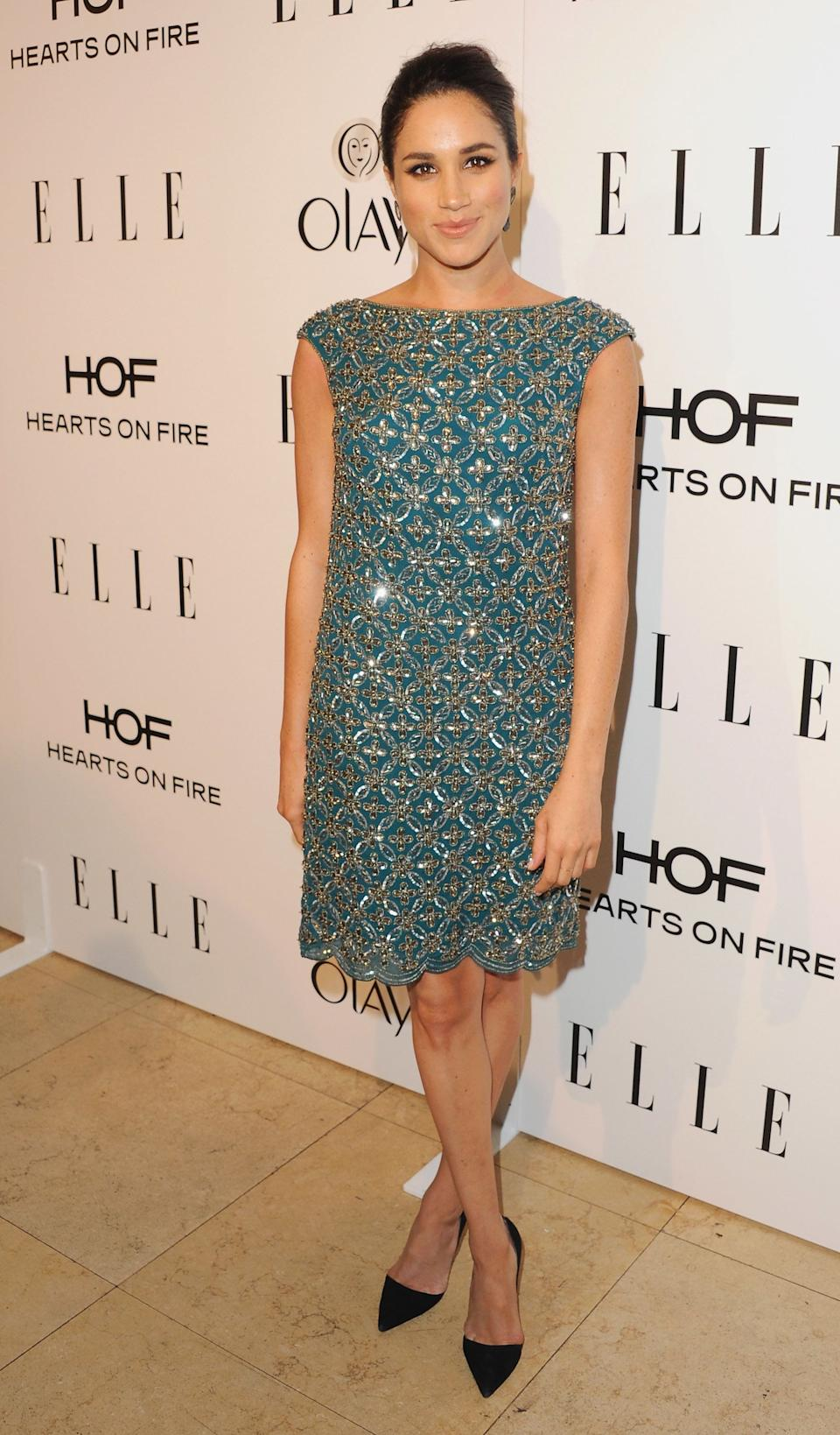 At the ELLE Women in Television celebration at Sunset Tower in West Hollywood, California.