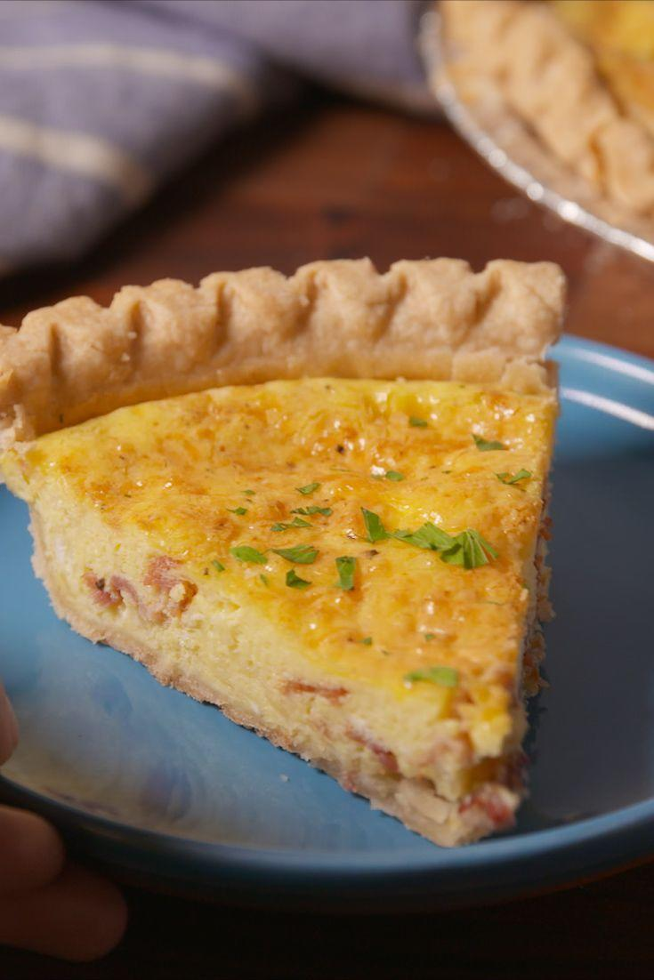 """<p>Master this quiche and leave the brunch crowds in the dust.</p><p>Get the recipe from <a href=""""/cooking/recipe-ideas/recipes/a50670/cheesy-bacon-quiche-recipe/"""" data-ylk=""""slk:Delish"""" class=""""link rapid-noclick-resp"""">Delish</a>.</p><p><strong><a class=""""link rapid-noclick-resp"""" href=""""https://www.amazon.com/Kuhn-Rikon-Silicone-Rainbow-10-Inch/dp/B000XR2EUY?tag=syn-yahoo-20&ascsubtag=%5Bartid%7C1782.g.1920%5Bsrc%7Cyahoo-us"""" rel=""""nofollow noopener"""" target=""""_blank"""" data-ylk=""""slk:BUY NOW"""">BUY NOW</a><em> Kuhn Rikon Silicone Rainbow Whisk, $20, amazon.com</em></strong></p>"""